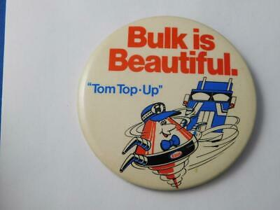 ESSO OIL GAS STATION TIM TOP UP MASCOT VINTAGE BUTTON ADVERTISING PIN