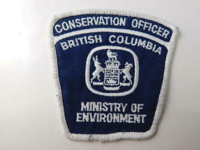 I BRITISH COLUMBIA CONSERVATION OFFICER VINTAGE PATCH BADGE MINISTRY ENVIRONMENT