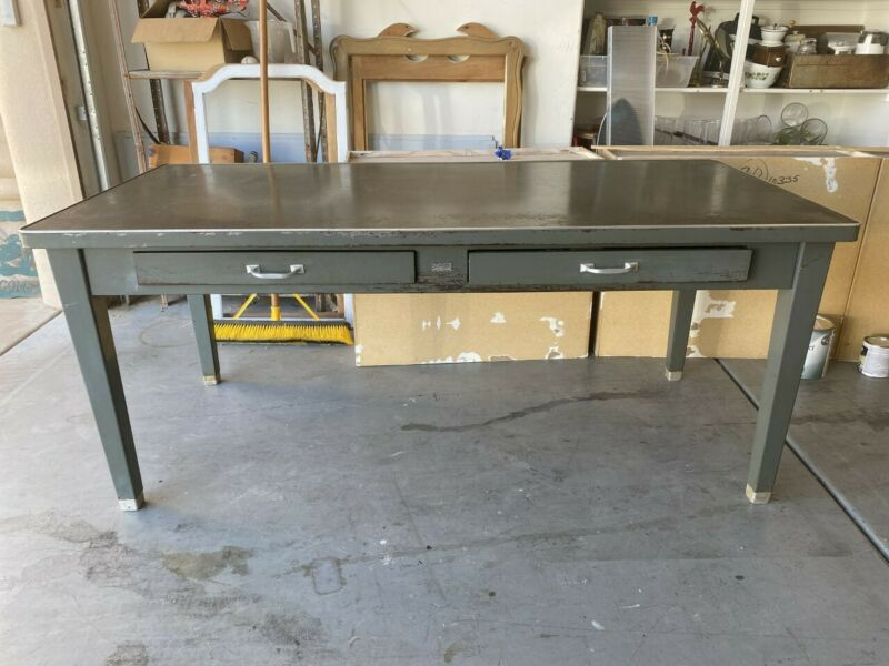 Industrial vintage The General Proofing Company large work desk