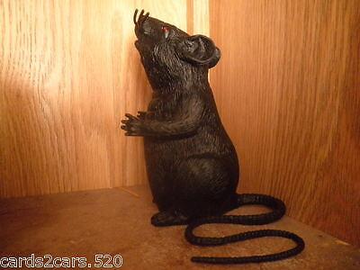 Standing/Sitting Black Rat Fake Prop Prank NEW  Scares Trick Gag Halloween Prop - Halloween Scare Pranks