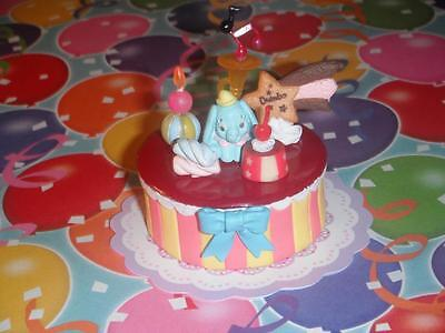 Disney Dumbo Rement Bday Cake fits Fisher Price Loving Family Dollhouse Dolls (Harry Potters Bday)