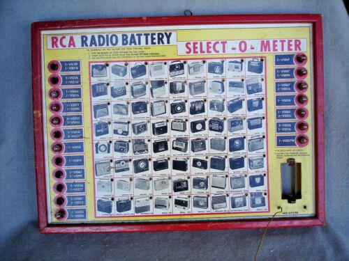 RCA RADIO BATTERY TESTER - Select-O - Meter