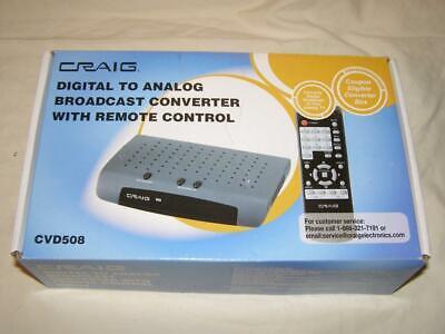 Craig Digital Converter New In Box Converts Analog To Digital TV Signal w/Remote