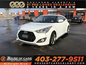 2013 Hyundai Veloster Turbo / Leather / Sunroof / Back Up Cam