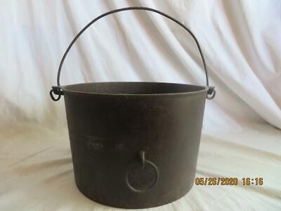 GRISWOLD #8 WAGNER WARE CAST IRON 5 QT DUTCH OVEN/POT PULL RiNG, ERIE PA, VTG