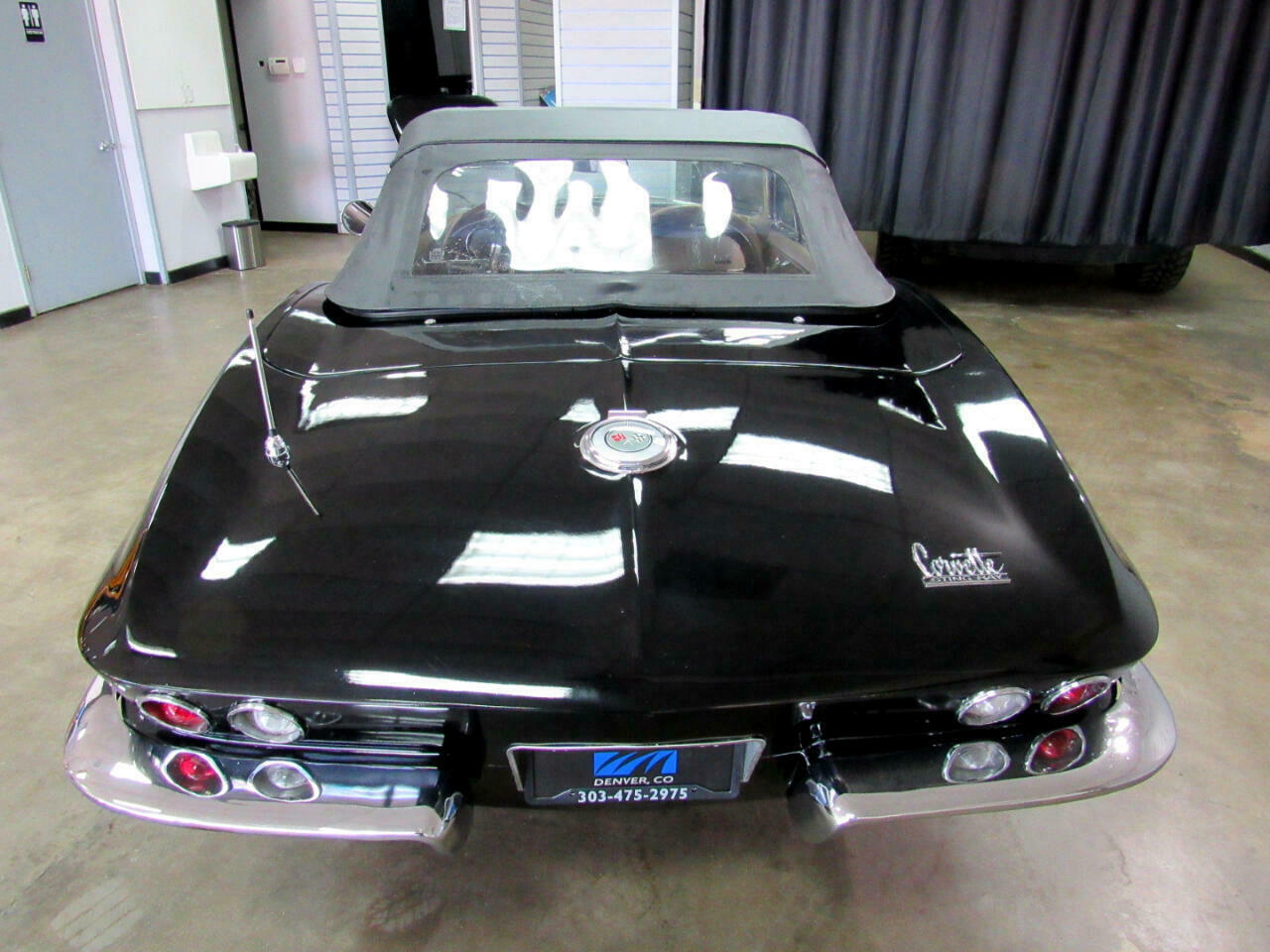 1966 Black Chevrolet Corvette Convertible  | C2 Corvette Photo 6