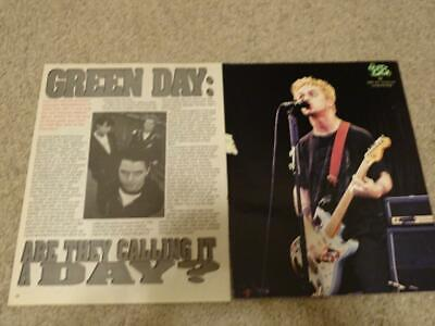 Billie Joel Armstrong Green Day Teen Magazine Pinup Clipping Calling A Day Bop - $3.50