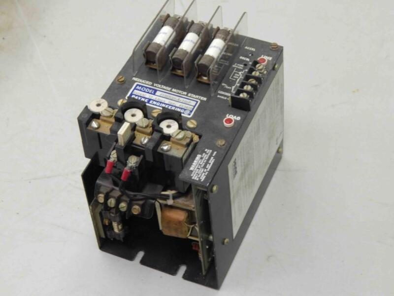 #805 Payne Engerineering  18EM3M-4-10HP Reduced Voltage Motor Starter 480Vac