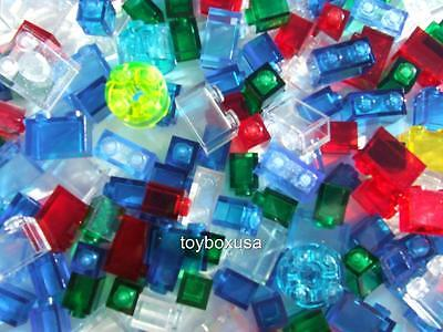 50 + New Lego City Bricks Mix Clear Color Transparent Bulk Lot Parts Pieces Set