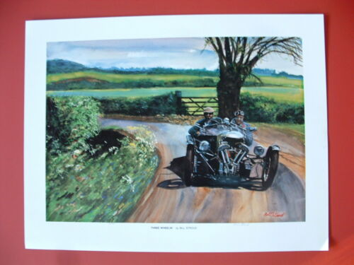 Morgan 3 Wheeler British sports car art print