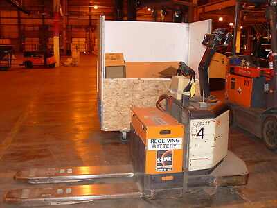 Crown 6,000# Capacity 24V Electric Rider Pallet Truck Mdl #: PE3520-60