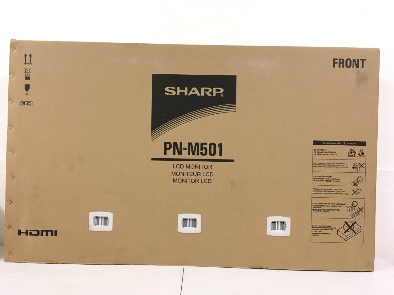 "Sharp PN-M501 50"" LED LCD Display PNM501 Digital Signage NEW"