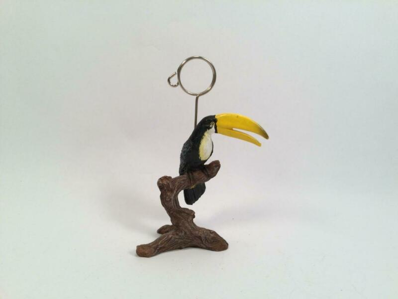TOUCAN NOTE CARD MEMO HOLDER BIRD FIGURINE 5""