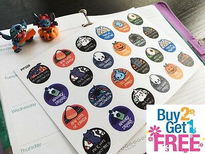 PP329 -- Halloween Icons Things To Do Planner Stickers for Erin Condren (24pcs) - Pp Halloween