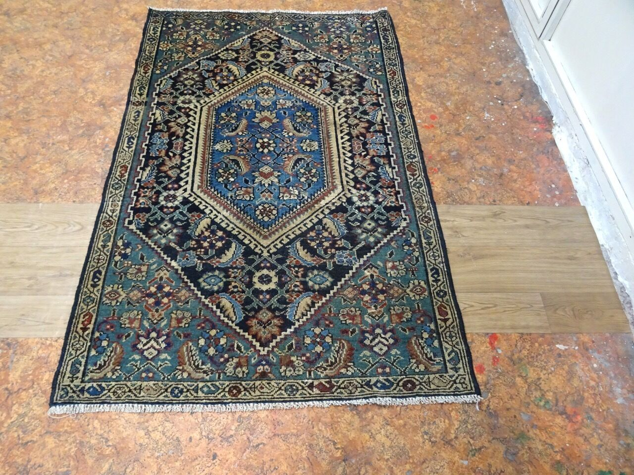 "Cr.1900 Kurdish Village Exquisite Antique Persian Hand Made Rug 3' 3"" x 5' 1"""