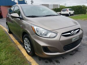 2012 Hyundai Accent GL - MANUELLE - BAS MILLAGE- JAMAIS ACCIDENT