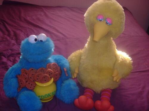 1980s Ideal Sesame Street Story Magic Big Bird & Cookie Monster.Eyes/Beak Move!