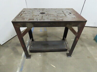 Custom Fab 24 X 41 34 Thick Steel Top Assembly Work Bench Layout Table
