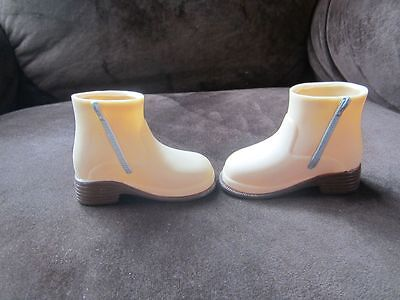 "Vintage Battat brown tan zip side doll ankle boots 18"" size doll cute!"