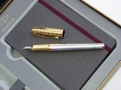 Parker fountain pen Urban Premium Aureate powder gift box with Parker notebook