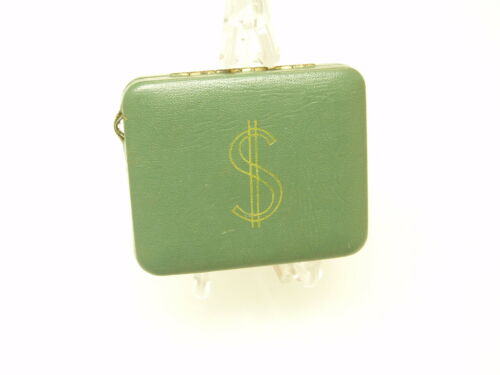 Vintage Compact Coin Holder Case The