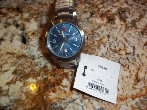 Victorinox Swiss Army centinel blue face watch NEW  24561