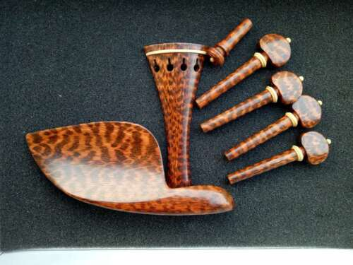 Selected snakewood violin fittings 4/4 size one set