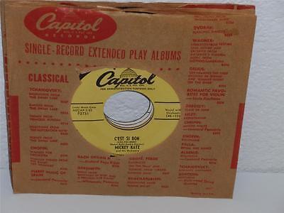 MICKEY KATZ That s Amore/ C est Si Bon 7 45 RPM Capitol F2731 DJ PROMO - $6.79