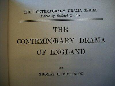 The Contemporary Drama of England (Thomas H. Dickinson, 1920 HC) EXTREMELY RARE!
