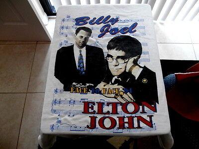 BILLY JOEL & ELTON JOHN~TEE SHIRT~ XL~ PLANOMAN TOUR~LIVE IN CONCER~COLLECTABLES