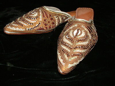 Slip on, Mules , Dance Of Belly Shoes Sandals / Woman N.40 Ethnic India Vintage