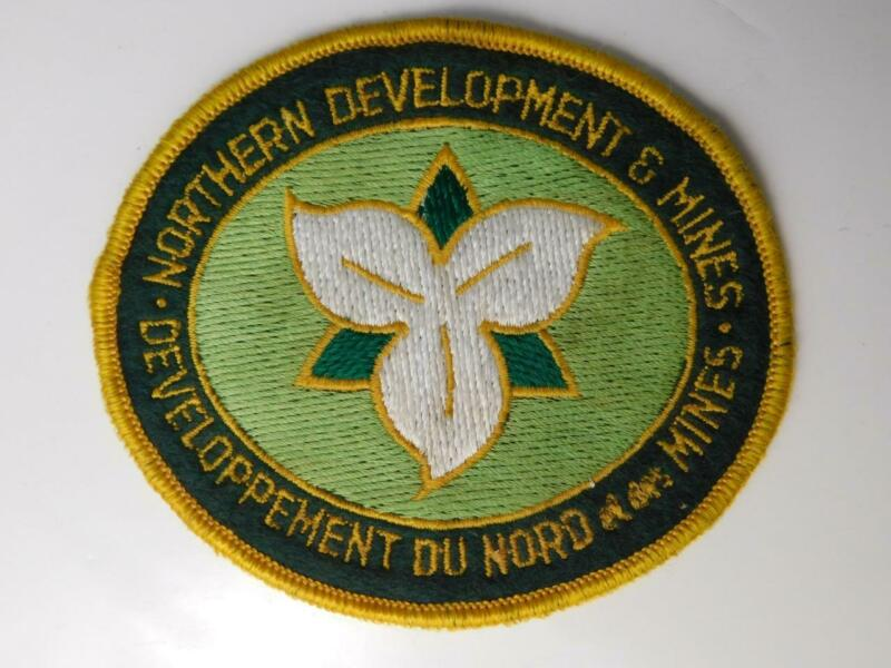 ONTARIO GOVERNMENT NORTHERN DEVELOPMENT & MINES VINTAGE PATCH BADGE OFFICIAL