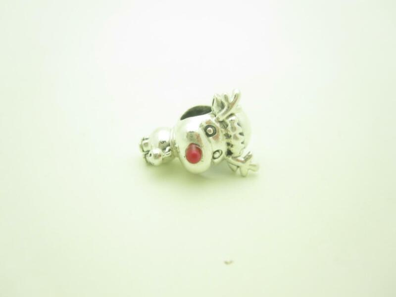 Pandora Sterling Silver Red Nosed Reindeer Christmas Holiday Charm
