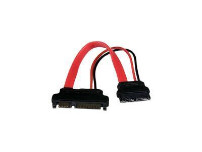 StarTech 6-Inch Slimline SATA to SATA Female/Male Adapter with Power (Female Slimline Sata To Sata Adapter With Power)
