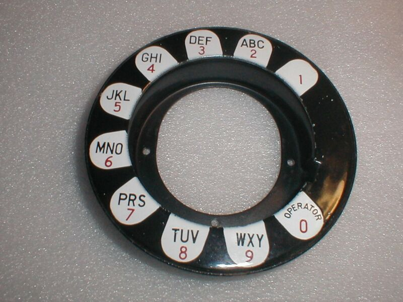 Western Electric Number Ring Dial Shroud Original Acorn Nuts Washers