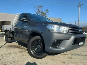 2020 Toyota Hilux TGN121R Workmate 4x2 Grey 5 Speed Manual Cab Chassis