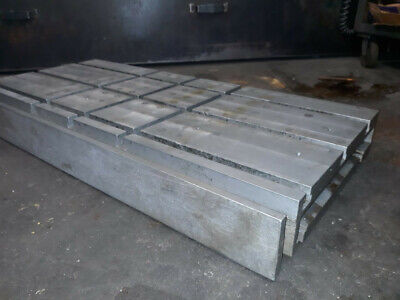 Machining Center Aluminum T Slot Riser Plate 4 X 20 X 42 Used