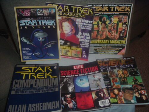 Back Issue Star Trek and Sci-Fi Magazine Lot.Sci-Fi Collectibles.Science Fiction