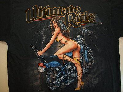 Vintage 1993 Motorcycle T-Shirt Durango, CO. Sz: XL Black Short Sleeve
