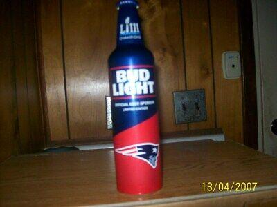 Super Bowl 53 Bud Light Aluminum Bottle.
