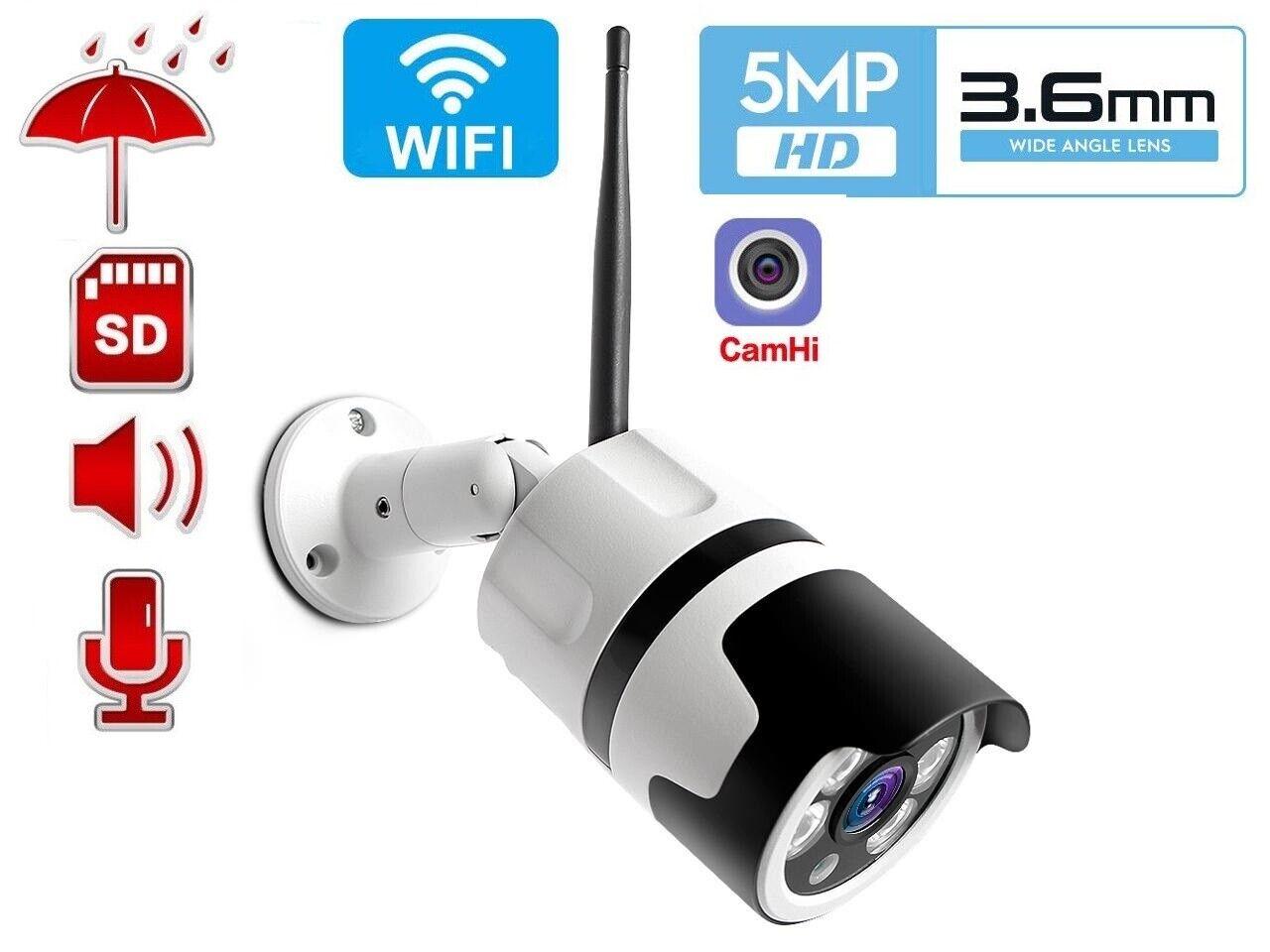 hd 5mp wifi ip bullet camera wireless