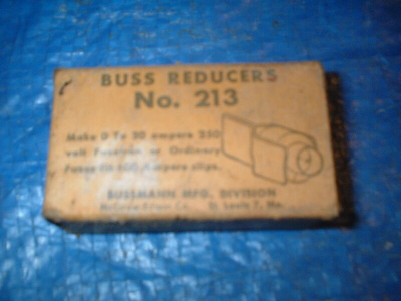 Vintage Telephone Buss Reducers Pair No 213 NEW NOS Box