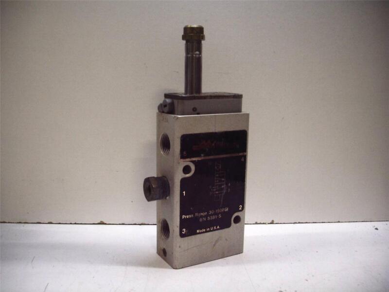 MILLER FLUID POWER 5381-S SOLENOID VALVE 30-150 PSI