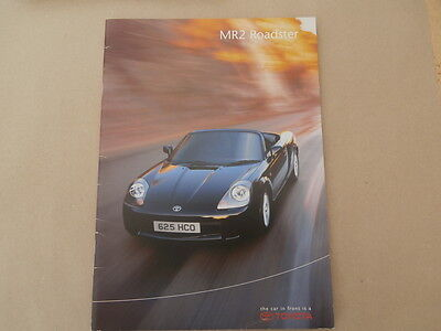 Toyota MR2 Roadster brochure. 2001. In Uncirculated condition.