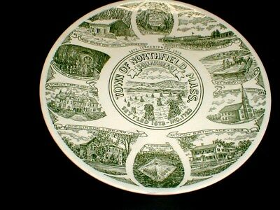 Northfield Massachusetts  Kettlesprings Kiln Tercentenary Souvenir Plate 1973