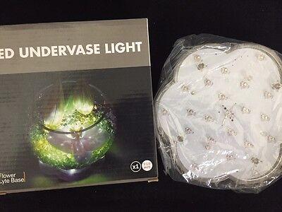 """6"""" Flower shape multi color LED Vase Base Light With 23 LED"""