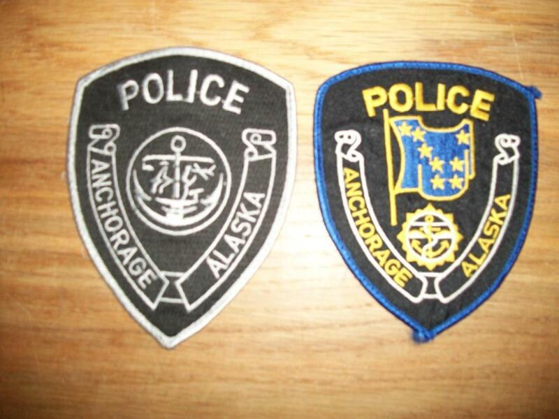 PAIR of ANCHORAGE, ALASKA POLICE SHOULDER PATCHES - 2 Different