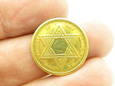 Jerusalem Gold Knesseth Israel Schöne .999 Münze Vintage Selten Bullion ()
