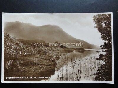 Ireland Co. Galway Evening at LOCH FEE, LEENANE Connemara c1938 RP Old Postcard