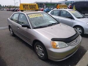 2002 Honda Civic DX ECONOMIQUE 5 VIT WOW